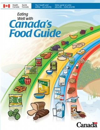 it is from Canada's Food Guide in 2007. reporting human intake vegetable, protein food, grains and milk.