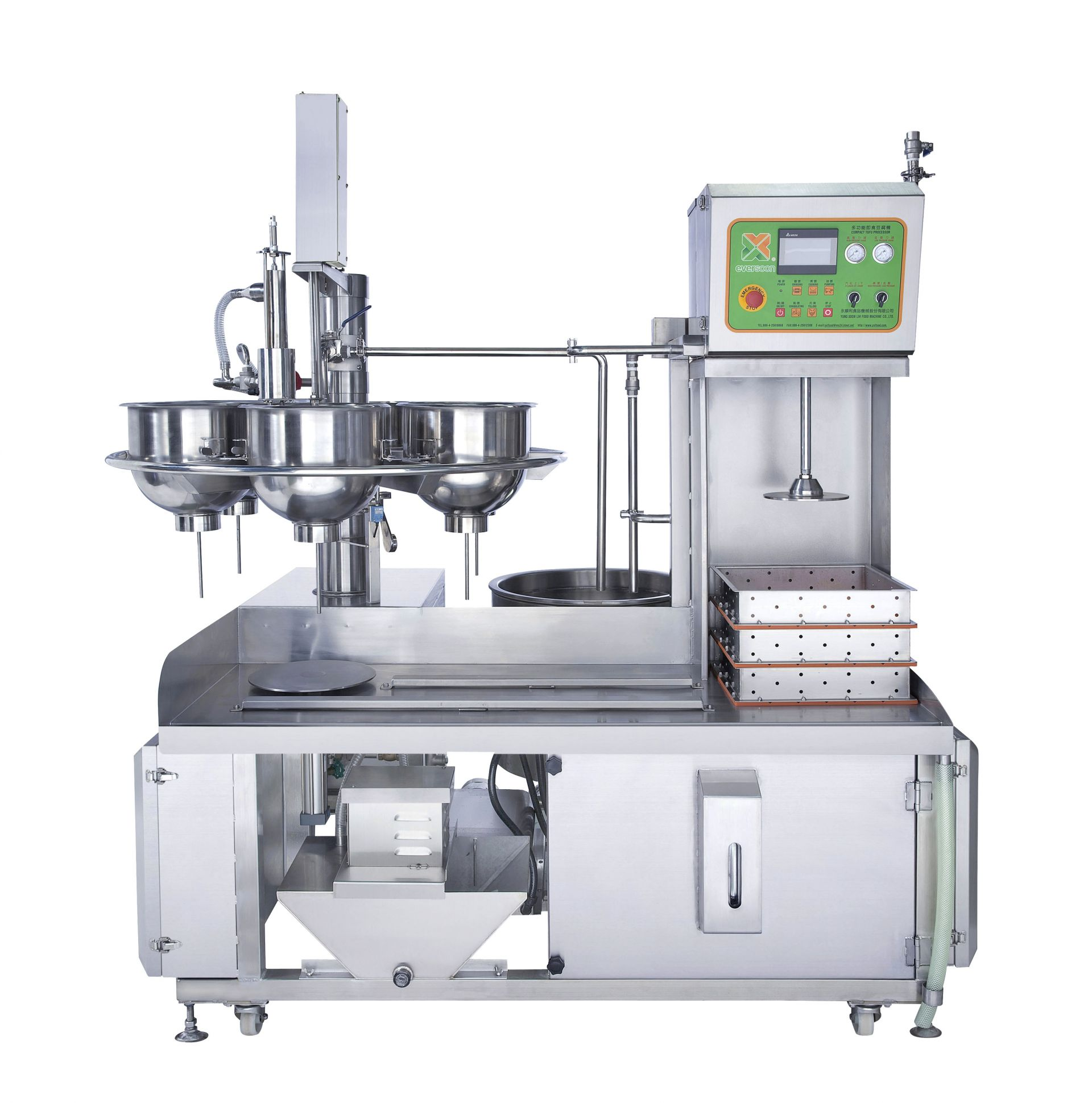 East Tofu Machine was designed with PLC which can be set by one finger.