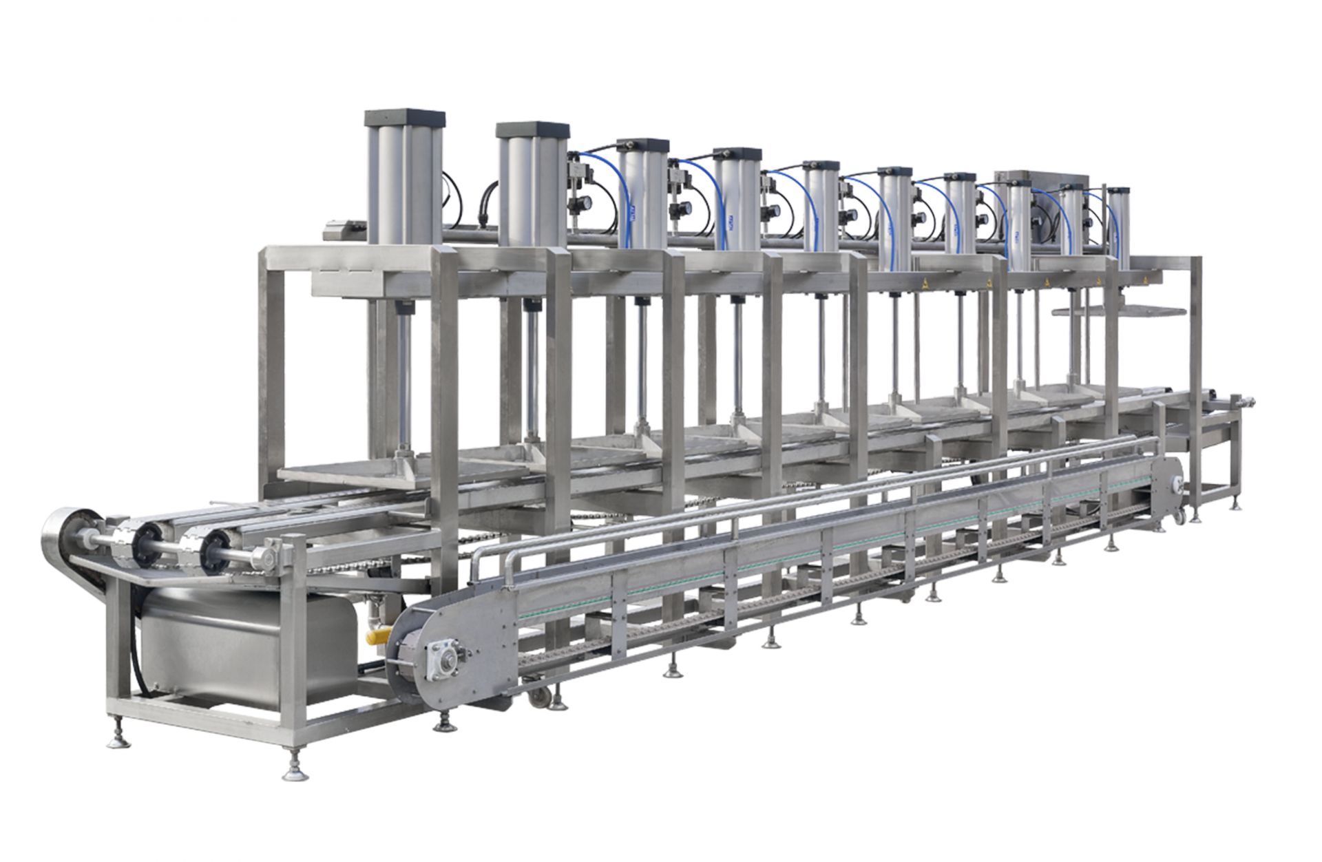 Automatic Continuous Tofu Molds Pressing Machine can save labor costs.